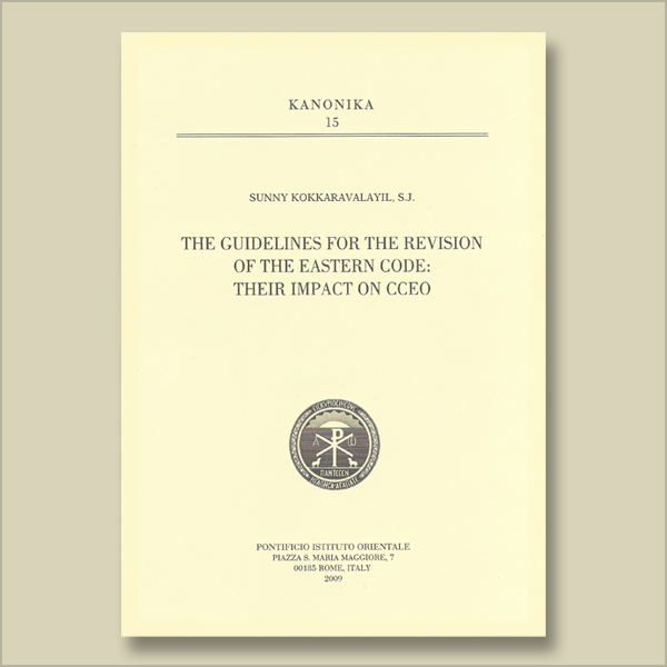 Kanonika 15. The Guidelines for the Revision of the Eastern Code: Their Impact on CCEO