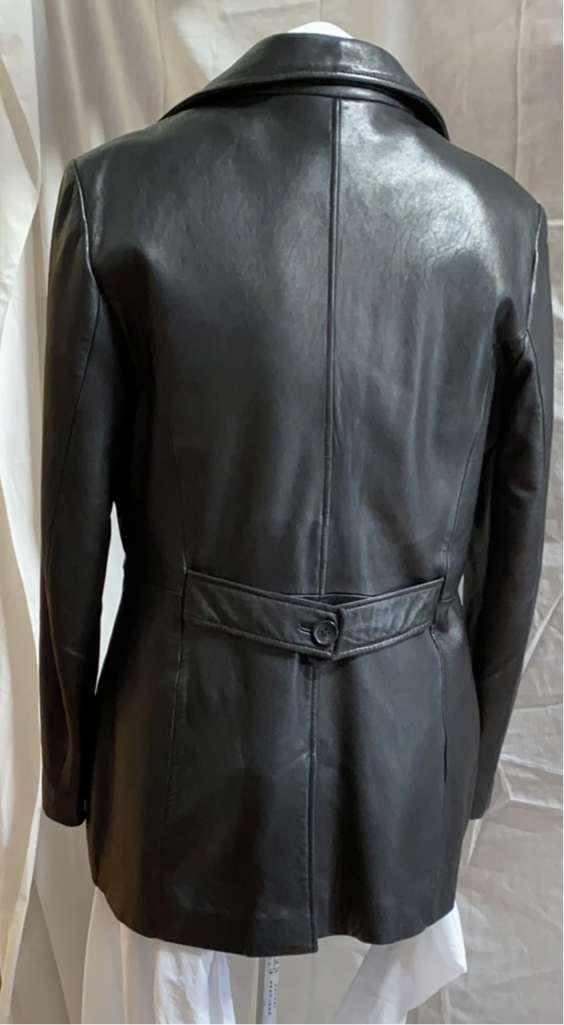 DANIER  black leather jacket (M)