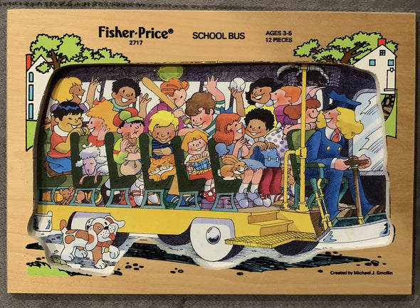 Vintage Fisher Price wooden puzzle 2717