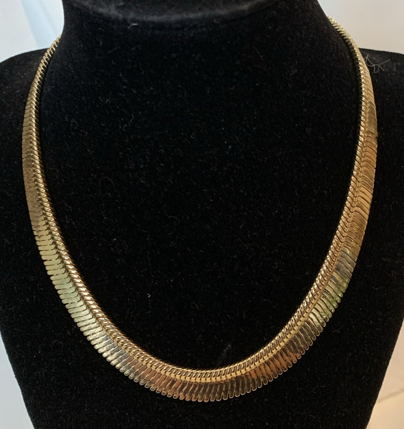 Gold Costume Collar Necklace