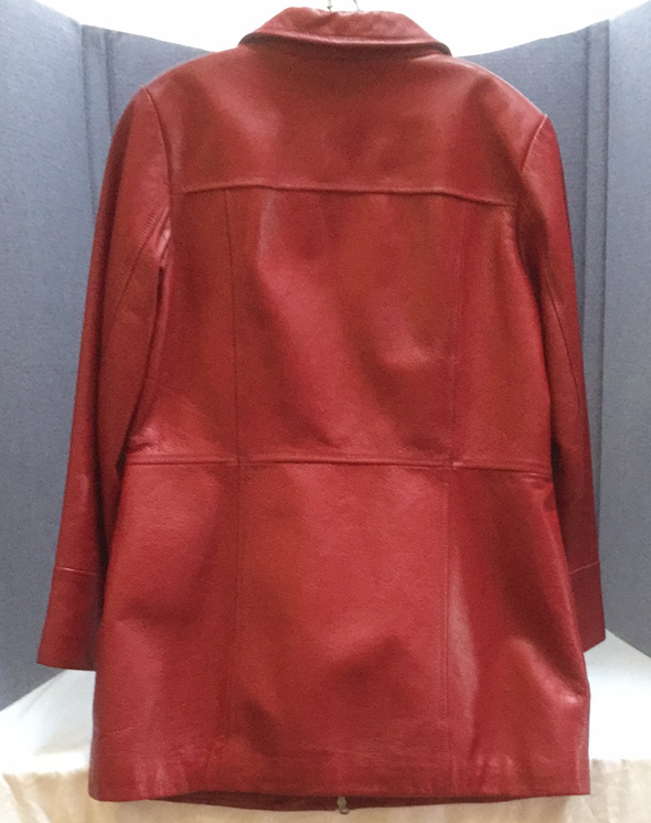 Red Danier Leather jacket (M)
