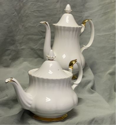 Royal Albert Tea & Coffee Pots,  Val D'Or