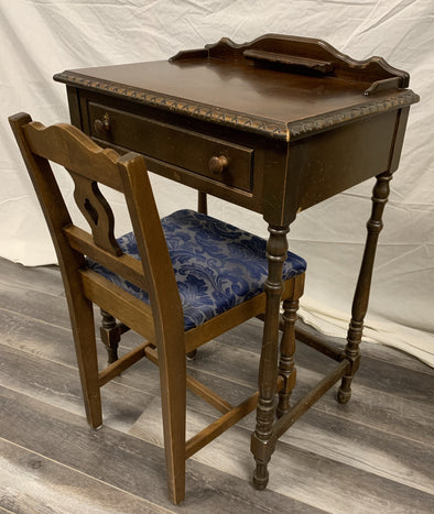 Small telephone desk with chair