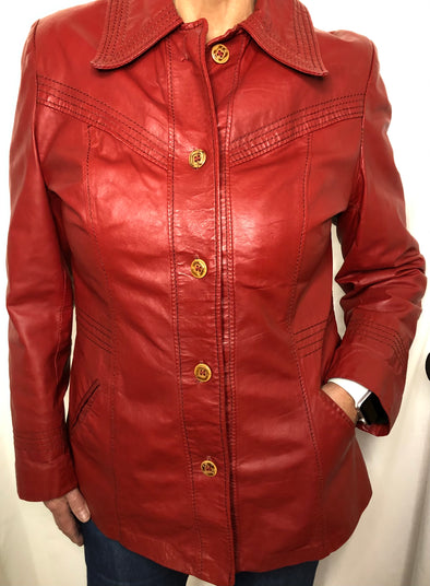 Vintage leather jacket, size small