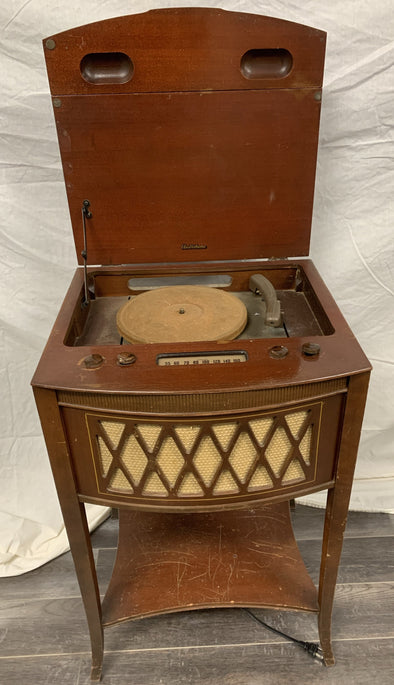 Radio-Phono Side Table 1940's