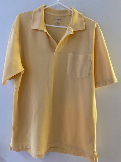 L. L. Bean Men's Golf Shirt, Yellow