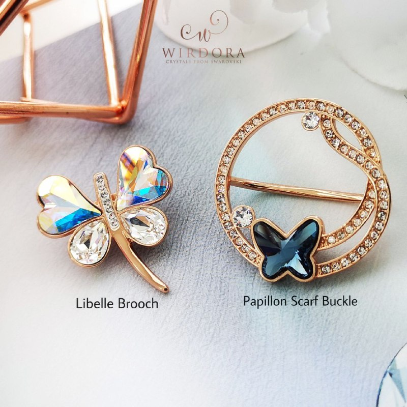 Wirdora Libelle and Papillon Rose Gold 18K