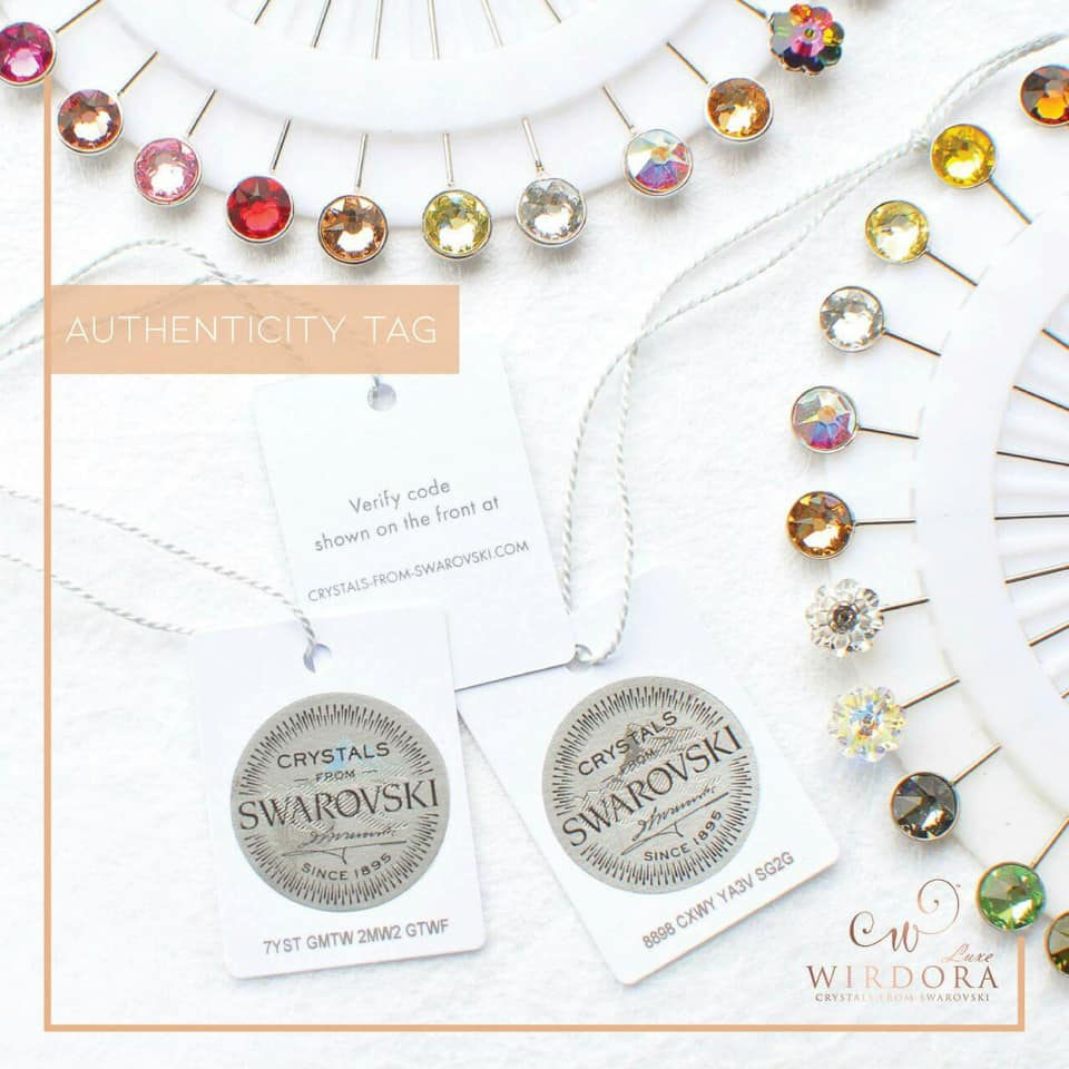 Wirdora Circle Pin Range Swarovski Authenticity