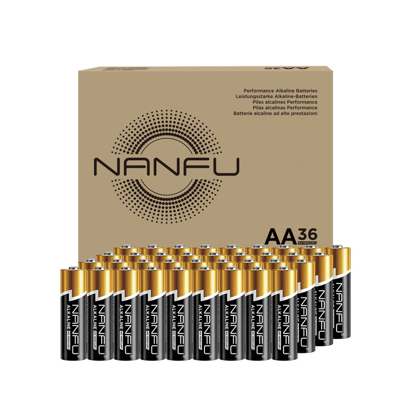 NANFU AA Batteries 36-Count Pack, Double A Alkaline Batteries