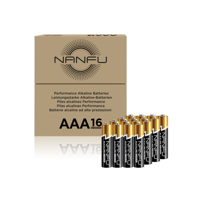 NANFU AAA Batteries 16-Count Pack, Triple A Alkaline Batteries