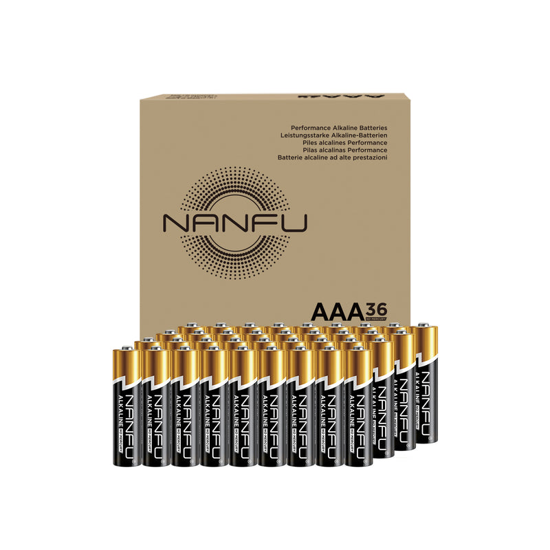 NANFU AAA Batteries 36-Count Pack, Triple A Alkaline Batteries