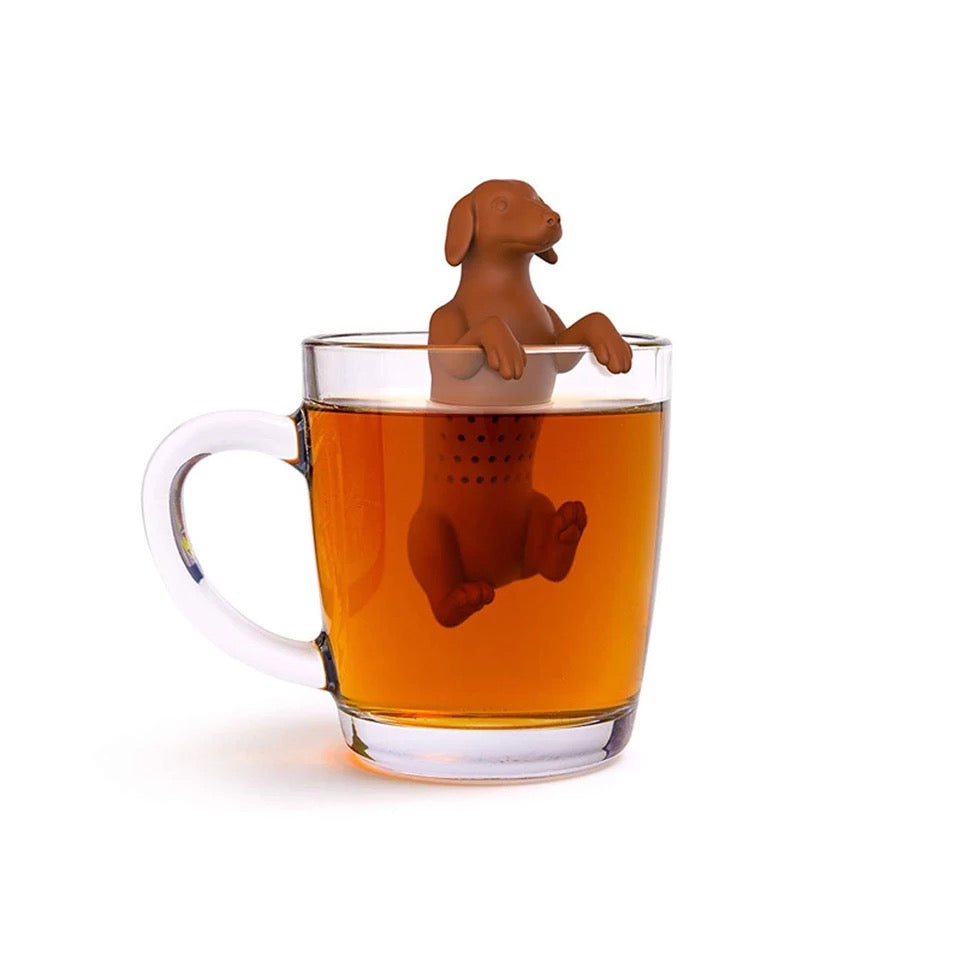 Dog shape tea infuser loose leaf tea strainer