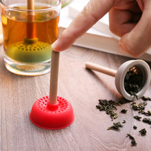Load image into Gallery viewer, Creativity Toilet Plunger Shaped Tea Strainer Silicone Tea Infuser Filter Toilet Plunger Shaped
