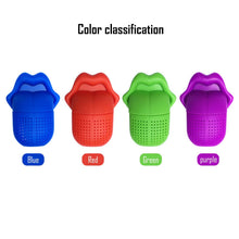 Load image into Gallery viewer, Silicone Tea Infuser Big Tongue Lips Diffuser Portable Funny Tea Infuser Strainer Leaf Herbal Spice Filter Kitchen Tools Teaware