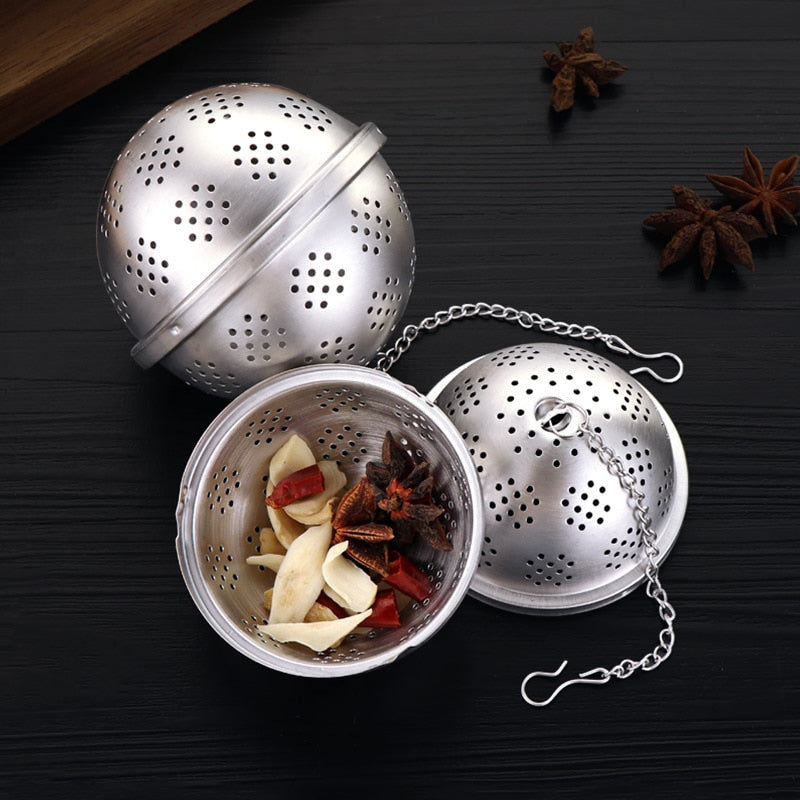 Round Seasoning Ball Tea Infuser Multifunction Soup Spice Strainer