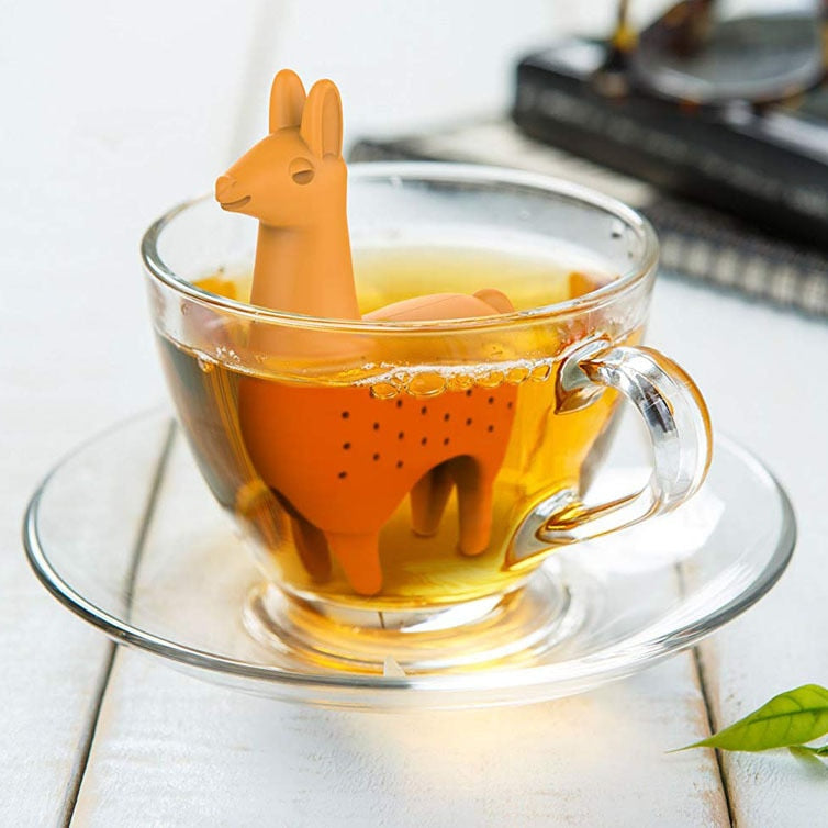 Food Grade Silicone Rubber Como Llama Tea Infuser Alpaca Animal Tea Filter Tea Strainer