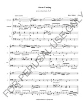 將圖片載入圖庫檢視器 Bach- Air on G String for Bb Clarinet, Violoncello and Piano (Score and Parts) - ChaipruckMekara