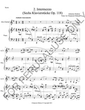 이미지를 갤러리 뷰어에 로드 , Intermezzo Op. 118 no. 2 by Brahms sheet music for Solo instruments and Piano - ChaipruckMekara
