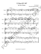 Load image into Gallery viewer, Mozart's 12 Duets kv.487 sheet music pdf - ChaipruckMekara