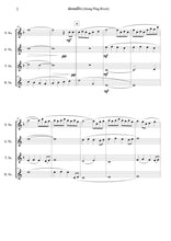 画像をギャラリービューアに読み込む, Along Ping River (ล่องแม่ปิง) for Saxophone Quartet- SATB (Score+Parts) - ChaipruckMekara