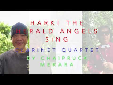 Hark! the Herald Angels Sing for Clarinet Quartet (score+part)