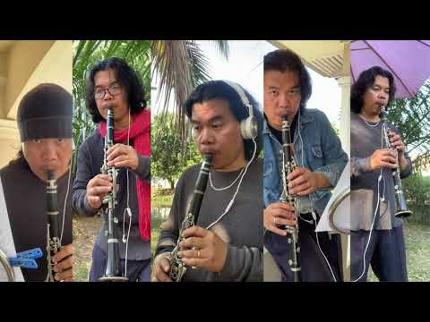 Mozart's Symphony no. 25 in G minor for Clarinet Quartet arrangement