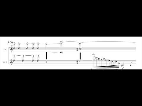 Dances of a Hill Tribe for Two Cellos and Invisible Drums (Transcription)