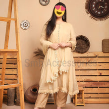 Load image into Gallery viewer, chiffon frock with dupta trouser