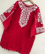 Load image into Gallery viewer, Red kurta