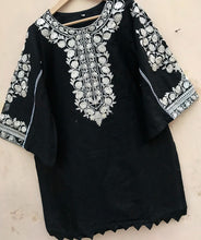 Load image into Gallery viewer, Black kurta