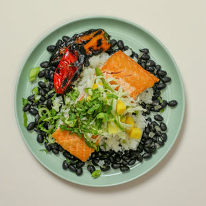 Salmon with Mango Slaw