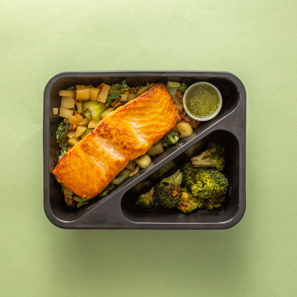 Seared Salmon with Bok Choy