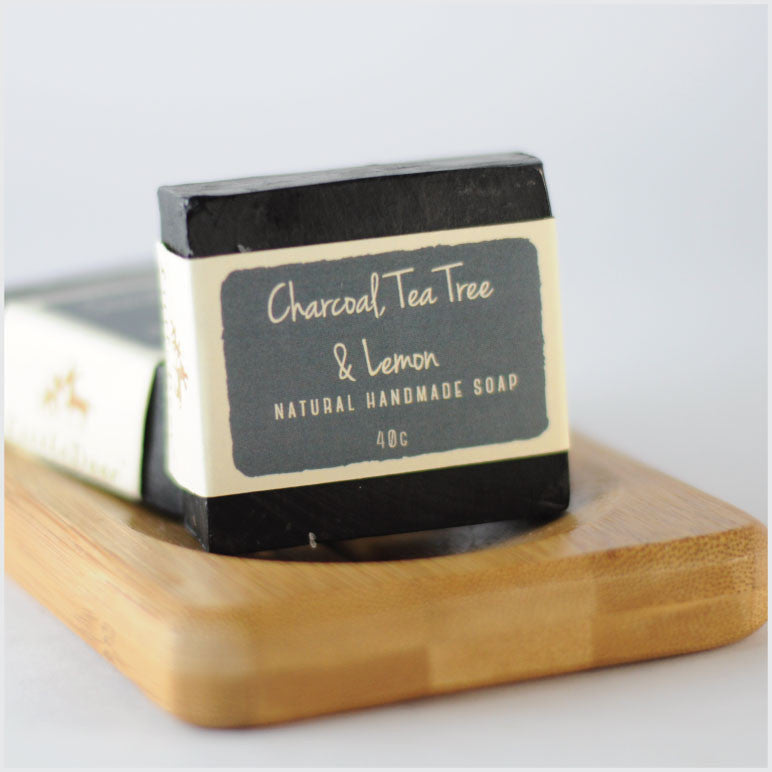 Charcoal, Tea Tree & Lemon Soap (40g)