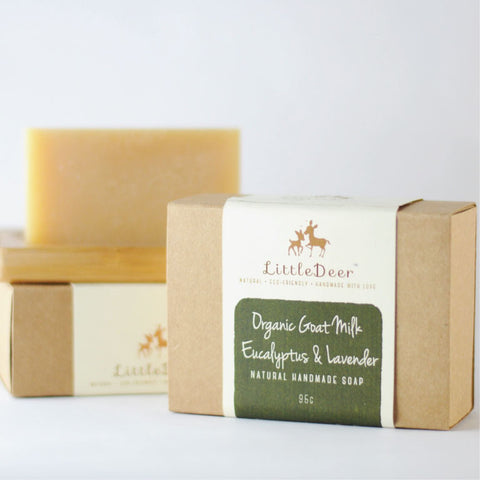 Organic Goat Milk, Eucalyptus & Lavender Soap (Cold Process Soap)