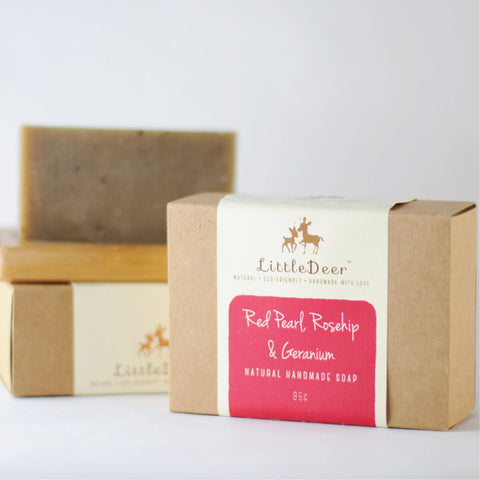 Red Pearl, Rosehip & Geranium Soap (Cold Process Soap)