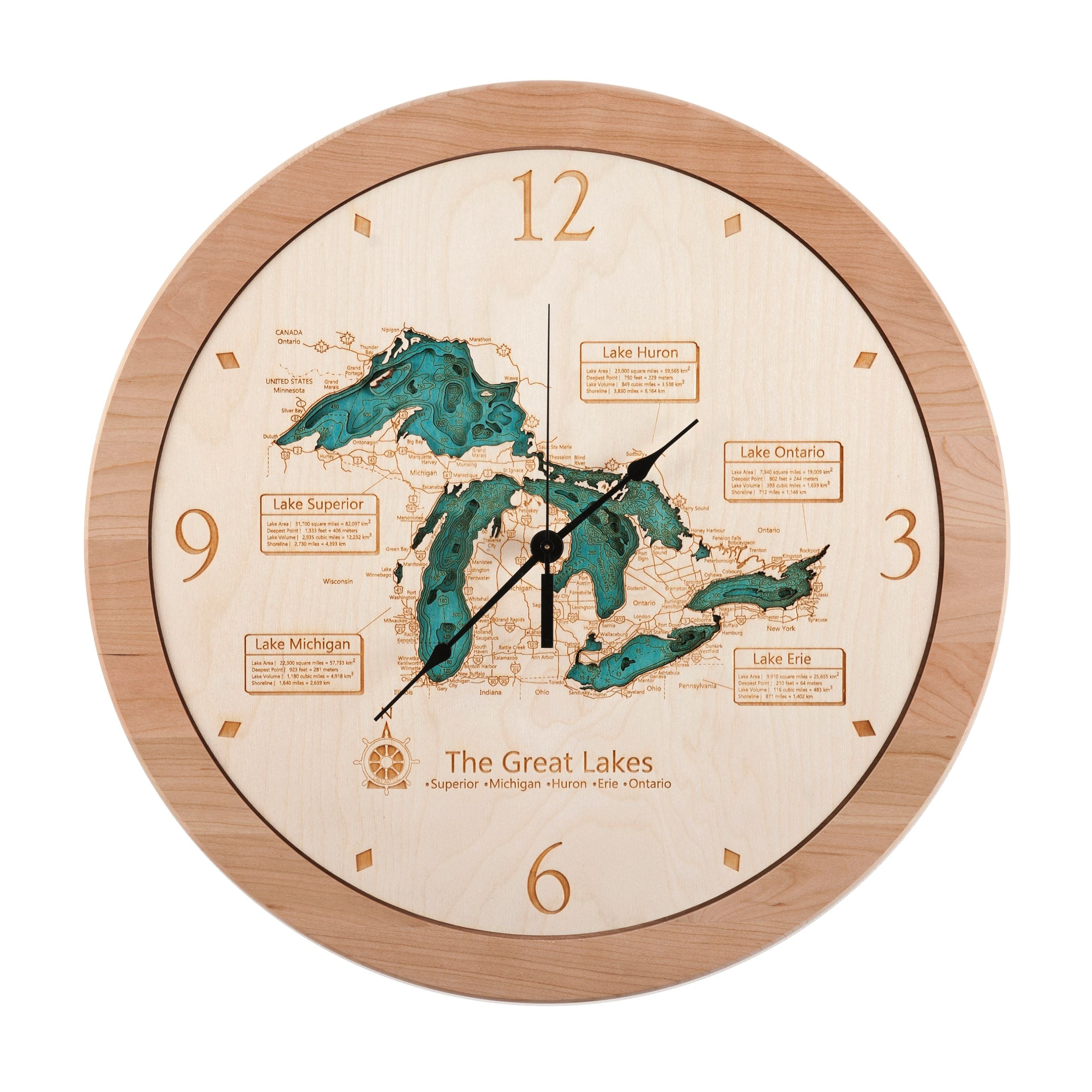 17.5 Great Lakes Clock