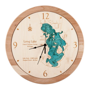 "17.5"" Long Lake Clock"