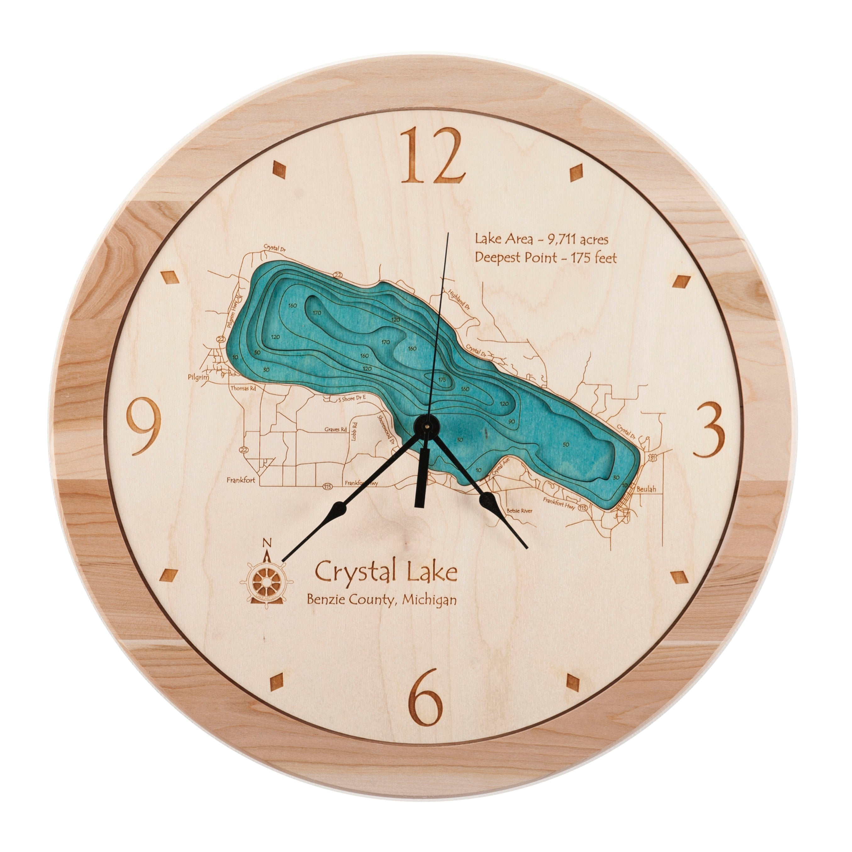 "17.5"" Crystal Lake Clock"