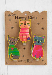 Magnetic Clips Set of 3 - Cats