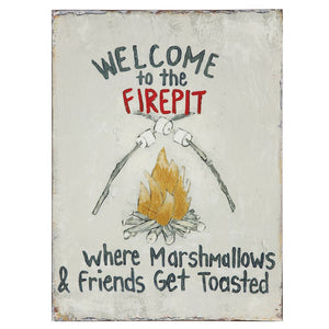 Tin Firepit Sign