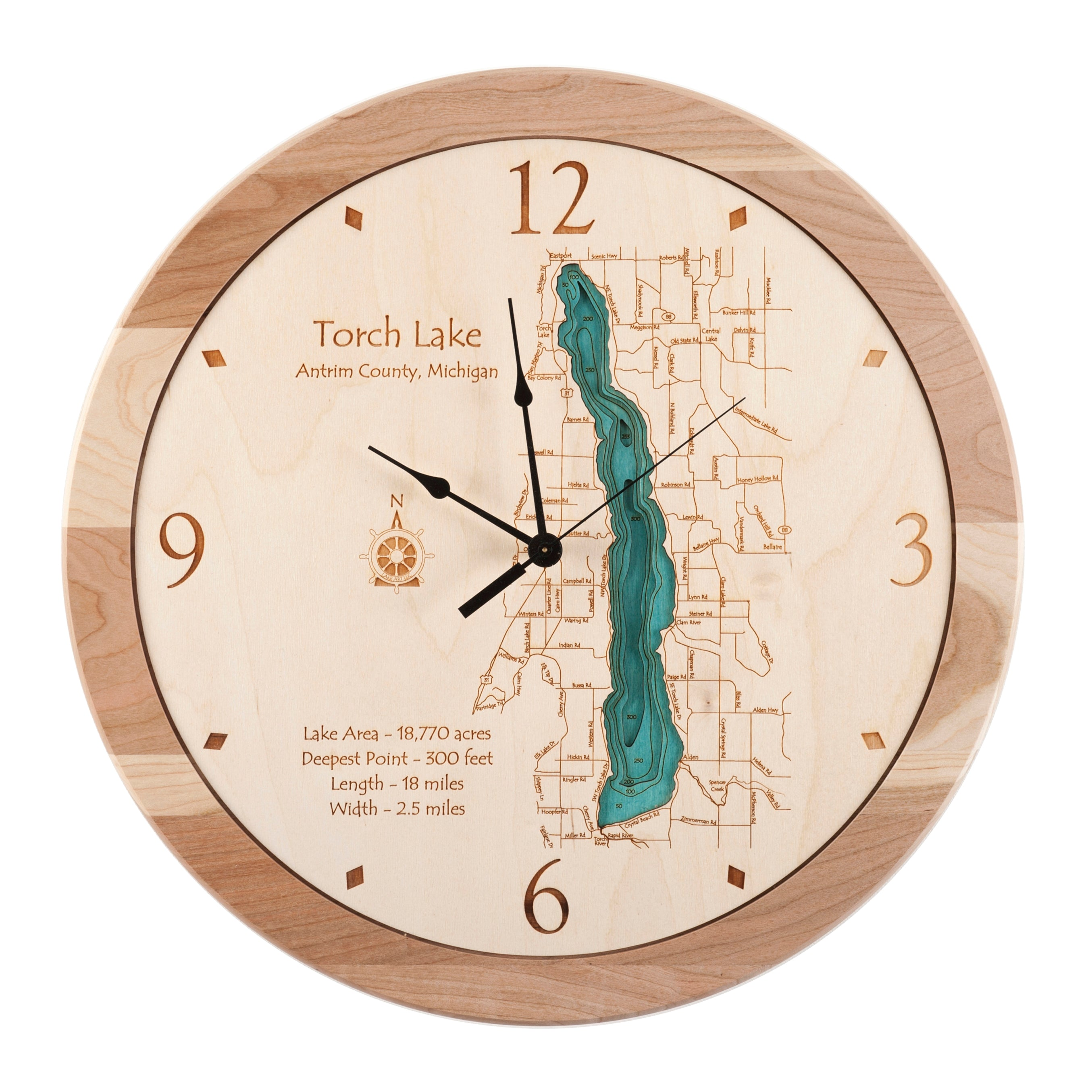 "17.5"" Torch Lake Clock"