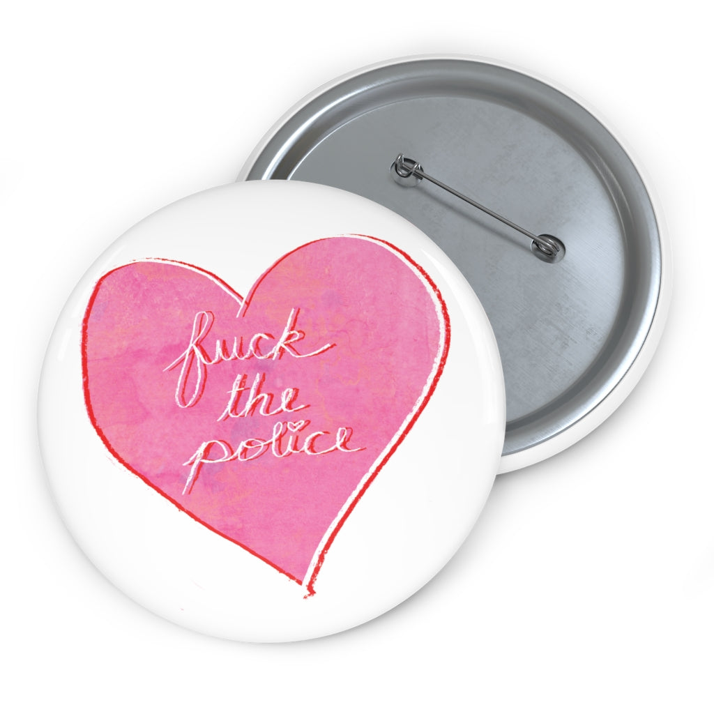 FTP Pink/White Heart Button