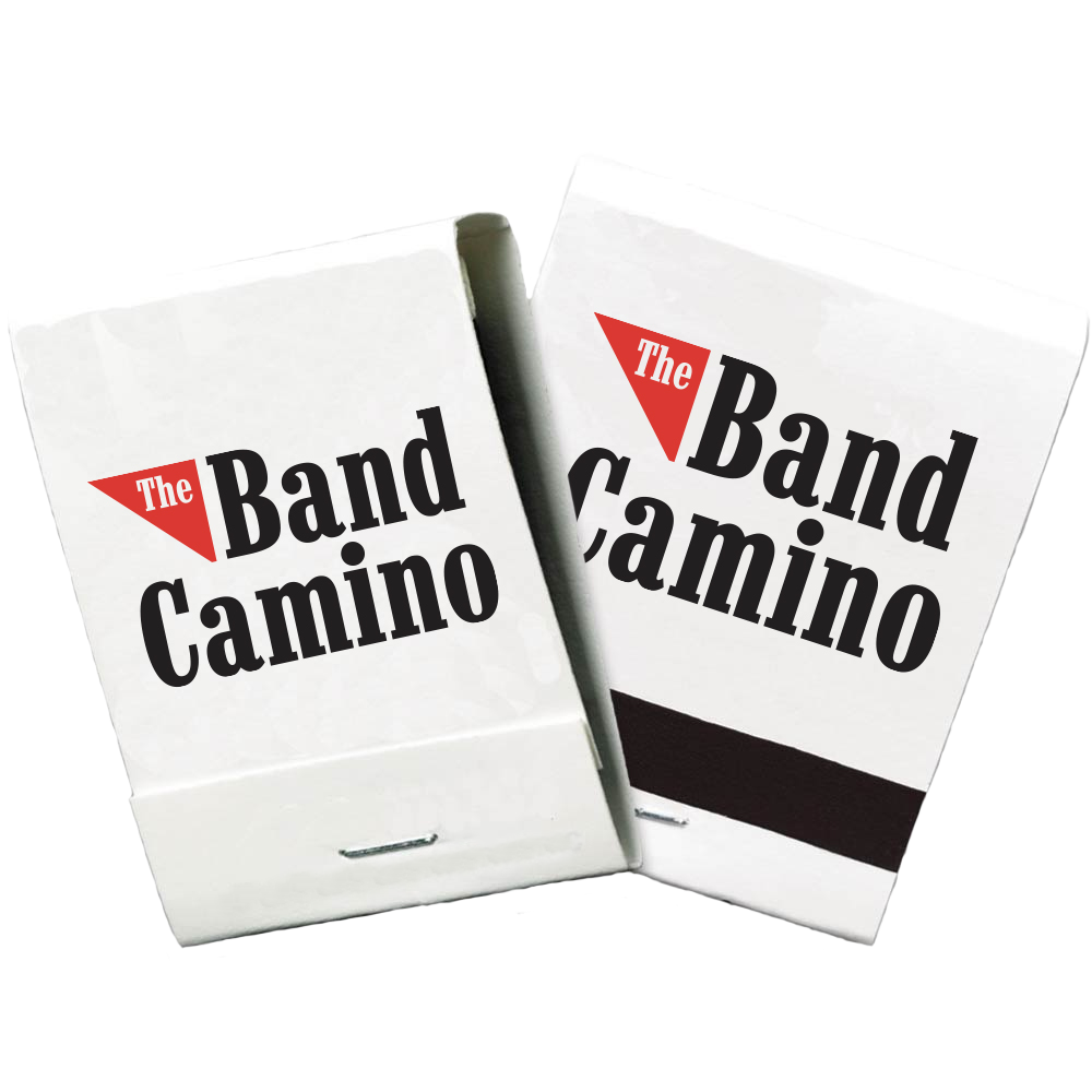 2 white books of matches with The Band Camino Logo