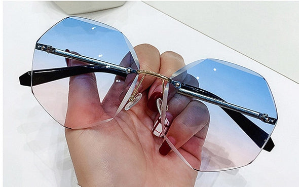 Vintage Fashion Rimless Sunglasses