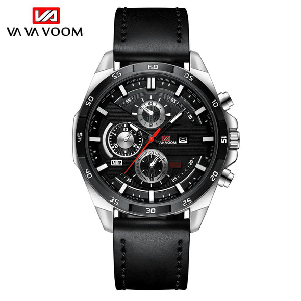 2021 New Arrival  Watches Mens Sport  Military Army Leather Wrist Watch