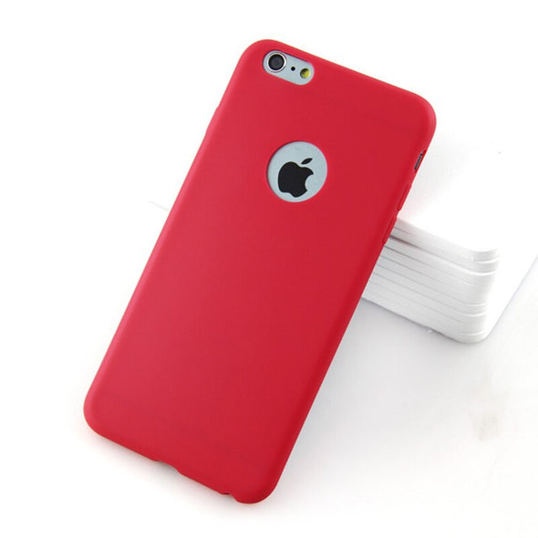 2021 Pure color silicone phone case for iPhone-Red