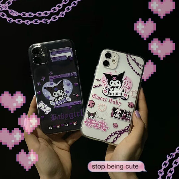 Super cartoon cute kuromi Cinnamoroll soft silicon phone case for  iphone