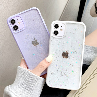 2021 Glitter Clear Phone Case For Iphone