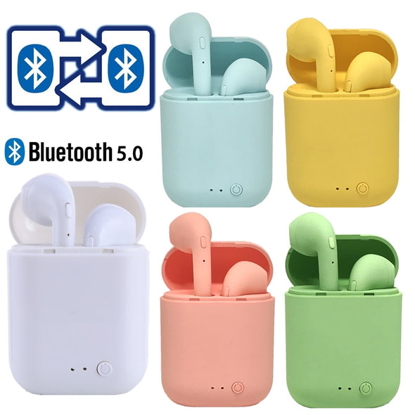 i7Mini TWS Wireless Earphones Bluetooth 5.0 Earphone Matte Earbuds Charging Box Headset Wireless Headphones for xiaomi iphone