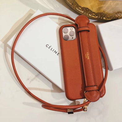 Luxury Brand Leather Crossbody Phone Case  for iPhone